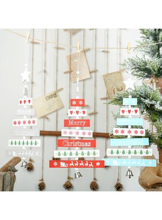 Feliz Navidad Colgando Decoración navideña De madera Colgante de navidad Adornos colgantes de árboles