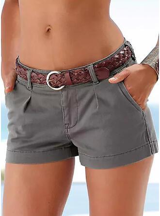 Pevný Sexy Vinobraní Plus velikost hlubokým výstřihem patch Kalhoty Šortky