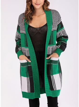 Bawełna V-neck Geometryczny Swetry