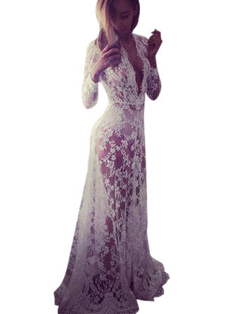 Lace With Lace Maxi Dress