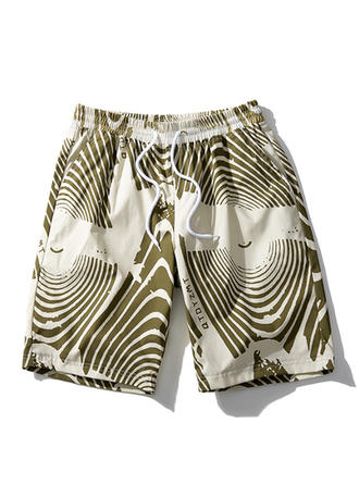 Mænd Stripe Hurtigtørre Board shorts