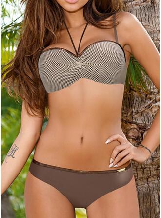 Volantes Correa Sexy Casual Bikinis Trajes de baño