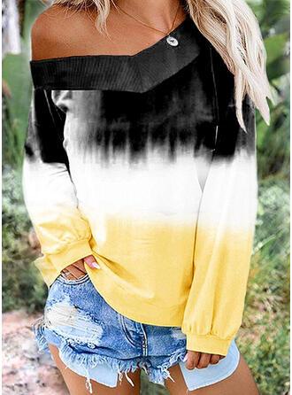 Gradient V-hals Lange ærmer Sweatshirts
