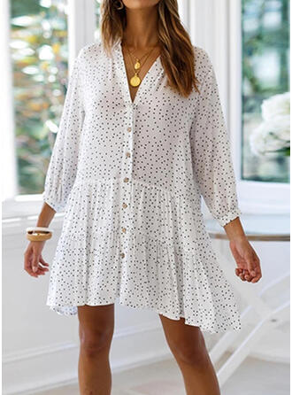 Dot V-Neck Fresh Cover-ups Swimsuits