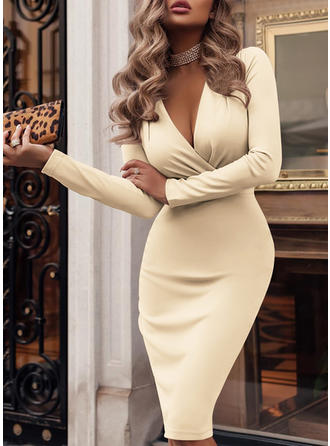 Long Sleeves Bodycon Knee Length Sexy/Party Dresses