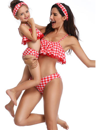 Mommy and Me PolkaDot Print Matching Swimsuit