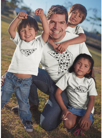 Cartoon Print Family Matching T-Shirts