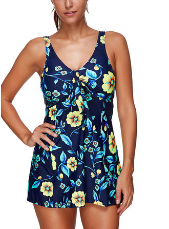Floral Strap Beautiful Swimdresses Swimsuits