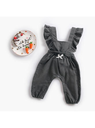 Bébé & Bambin Fille Solid Coton Salopette