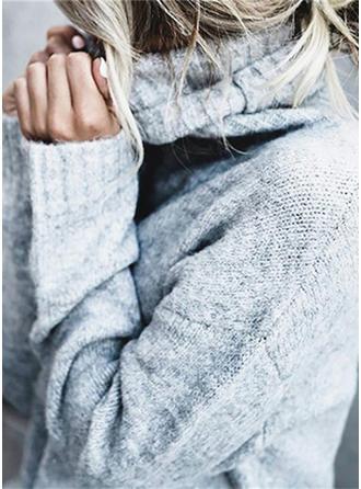 Egyszínű Nagyhurkos kötés Garbó πουλόβερ