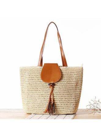 Commuting/Bohemian Style/Braided/Simple Tote Bags/Shoulder Bags/Beach Bags