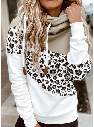 Värikäs leopardi Pitkät hihat Huppari