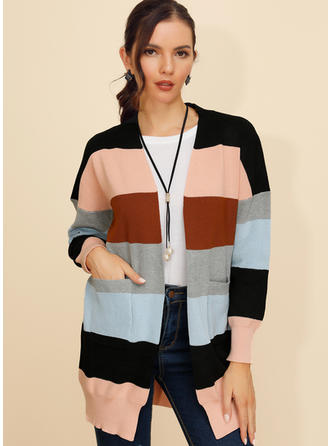 Polyester Long Sleeves Color Block