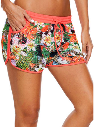 Floral Fashionable Plus Size Bottoms Swimsuits