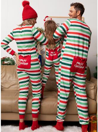 Listra Impressão Família Combinando Natal Pijama