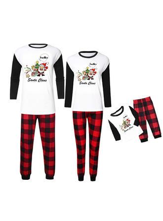 Weihnachtsmann Karierte Schreiben Passende Familie Christmas Pajamas