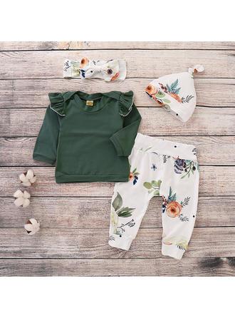 Bébé & Bambin Fille Imprimé floral Coton Pantalon,Bandeau,Chapeau,Pullover Définir La Taille