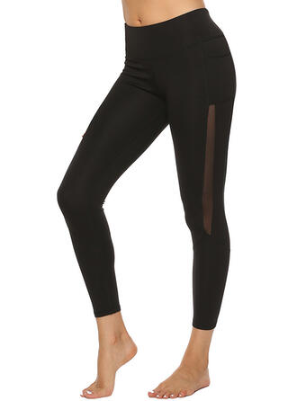 Couleur unie Leggings de sport