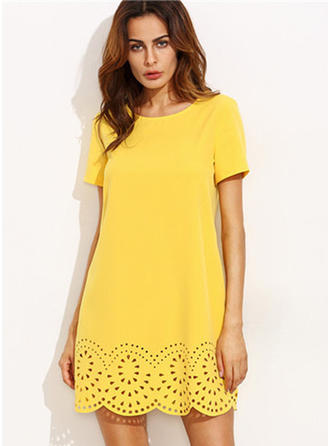 Cotton With Hollow Above Knee Dress