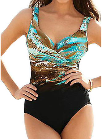 Colorful Strap One-piece Swimsuit