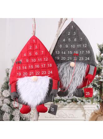Gnomo Feliz Navidad Colgando Tela no tejida Decoración navideña Calendario De Adviento De Navidad