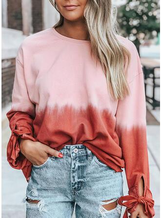 Gradient rund hals Lange ærmer Sweatshirts