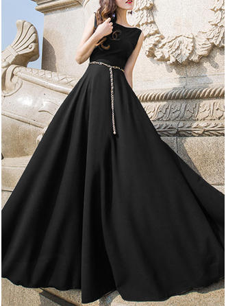 Polyester/Blend With Stitching Maxi Dress