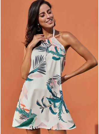 Print/Floral Sleeveless Shift Above Knee Sexy/Casual/Vacation Dresses