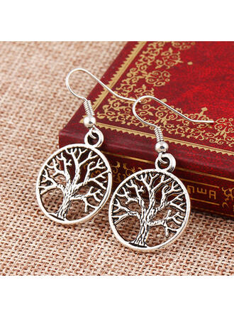 Classic Simple Alloy Women's Earrings 2 PCS