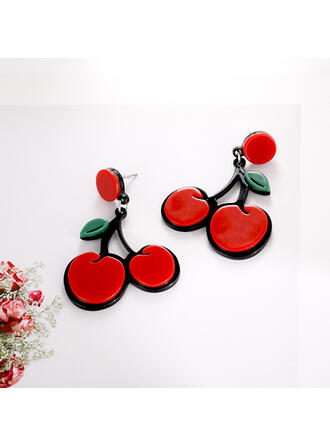 Cherry Alloy Braided Rope Earrings