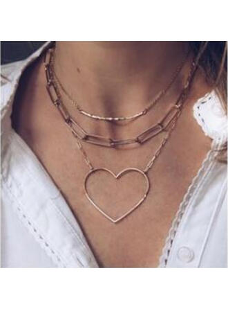 Heart Shaped Alloy Necklaces