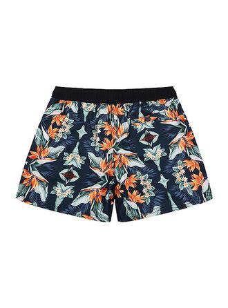 Men's Floral Lined Swim Trunks