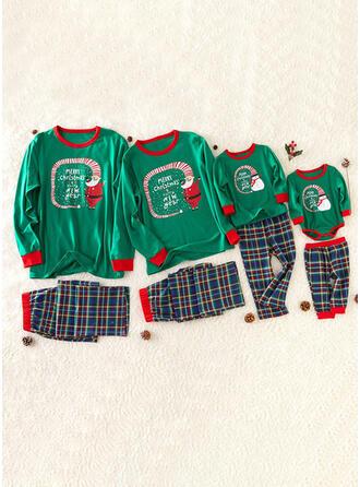 Père Noël Letter Inmprimé Tenue Familiale Assortie Pyjama De Noël