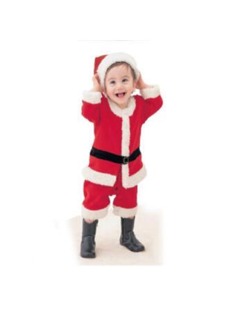 Navidad Feliz Navidad Papa Noel Algodón Adornos Navideños (Juego de 4)