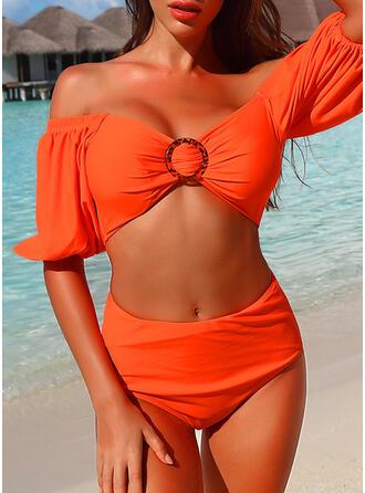 Léopard Imprimé Épaule Dénudée Sexy Jolis Classique Attrayant Bikinis Maillots De Bain