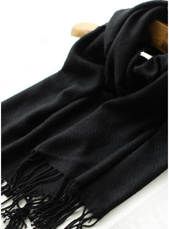 Solid Color Oversized/fashion Polyester Scarf
