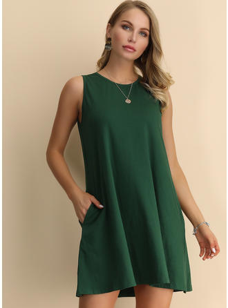Sleeveless Above Knee Dresses