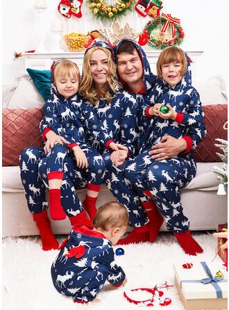 Renne Imprimé Tenue Familiale Assortie Pyjama De Noël