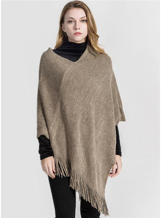 Solid Color Oversized/fashion Poncho