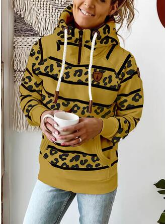 Leopard Lange ærmer Hoodie