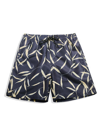 Men's Leaves Lined Board Shorts