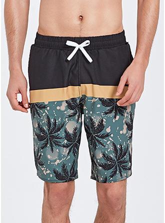 Pour des hommes Inmprimé Shorts de planche Maillot de bain