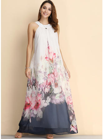 Print/Floral Sleeveless A-line Maxi Casual/Party/Vacation Dresses