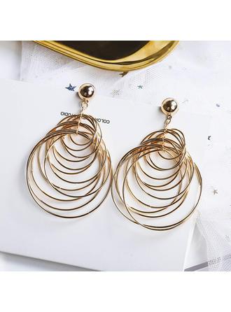 Chic Alloy Women's Fashion Earrings (Set of 2)