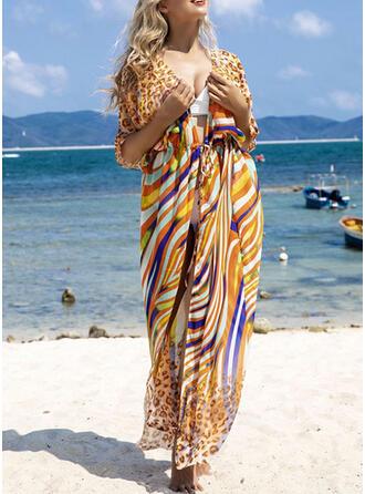 Rayures Imprimé Vintage Boho Tenues de plage Maillots De Bain