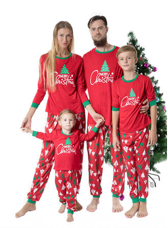 Lettera Cartone Animato Stampa Famiglia Partita Di Natale Pajamas