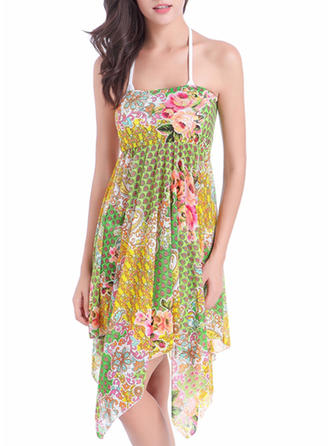 Bonito Floral Vestido de praia