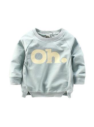 Bébé & Bambins Lettre imprimée Coton Sweat-Shirt