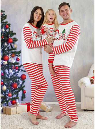 Santa Letter Striped Family Matching Christmas Pajamas