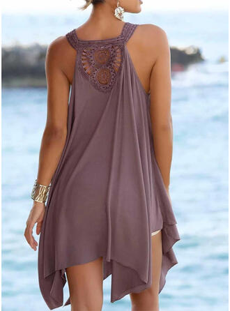 Solid Color Strap Fresh Boho Cover-ups Swimsuits